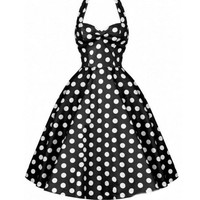 NEW ARRIVAL Black & White Polkadots Made-to-Order Retro 50s Pinup Girl Rockabilly Style Dress by After The Rain