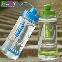 1.5L/2L Large Capacity Plastic Outdoor Sports Water bottle Portable leak-proof Cups with Straw