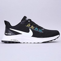 Hipgirls Nike Run Shield New fashion hook print sports leisure shoes Black