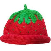 Handloomed Knit Strawberry Hat
