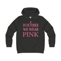 In October We Wear Pink Womens Hoodie Supporting Breast Cancer Awareness Month