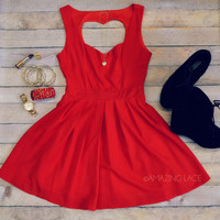 Queen of Hearts Red Cut Out Dress