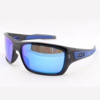 Oakley Turbine Sunglasses Black Ink Frame Sapphire Iridium Lens OO9263-05