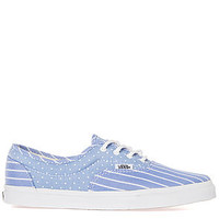 The LPE Sneaker in Chambray Multi and Blue