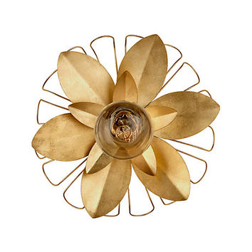 keaton mixed floral sconce