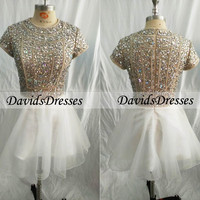 Beaded Short Prom Dress 2016, Homecoming Dress