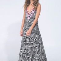 Deep V Gown Sequin Chiffo by Mara Hoffman | WEST L.A. Boutique