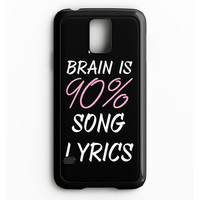 Cool Brain Song Music Cute Funny Quote Samsung Galaxy S5 Case