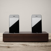 Double Charging Tray iPhone® Walnut