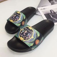 Versace Woman Men Fashion Print Slipper Sandals Shoes