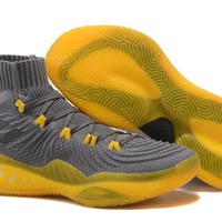 Adidas Performance Men's Crazy Explosive 2017 Primeknit Basketball-Shoes - Gray/Yellow