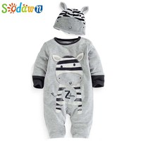 Sodawn Baby Boys Clothes Clothing Cartoon Zebra Newborn Hats Sets Casual Baby Boy Girl Rompers  Baby Clothing
