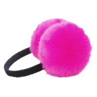Faux Fur Ear Muff with Black Band