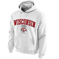 Wisconsin Badgers Midsize Arch Pullover Hoodie - White