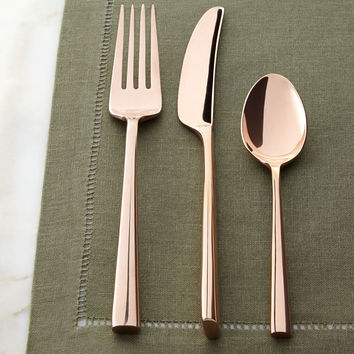 Five-Piece Malmo Rose Gold Flatware Place Setting - kate spade new york