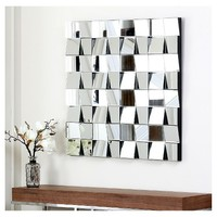 Square Audrina Decorative Wall Mirror Silver - Abbyson Living