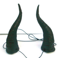 Maleficent Horns, Dragon, Sleeping Beauty, Black, Bull Horns, Big, Headband Demon Horn Devil Lightweight  Costume, Black Cosplay, Costume,