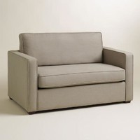 Pebble Gray Chad Chair-and-a-Half Twin Sleeper