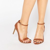 New Look Barley There Heeled Sandal at asos.com