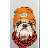"""French Bulldog Wearing """"Cool Dog"""" Cap Case For iPhone 7 7Plus 6 6S 6Plus"""