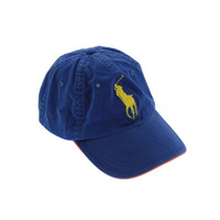Polo Ralph Lauren Mens Cotton Solid Ball Cap - O/S / Blue/Orange/Yellow