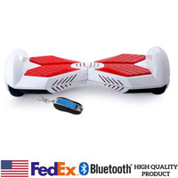 Two Wheels Electric Hover Board Self Balancing Smart Drifting Scooter White/Red