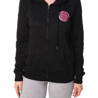 Metal Mulisha Women's Good Girl Bad Habits Full Zip Fleece Hoodie