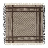 Junior Guccissima Wool-Blend Scarf, Brown, Size: ONE SIZE, LIGHT BROWN - Gucci
