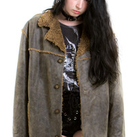 Vintage 90's Does 70's Olive It Leather Jacket