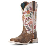 Ariat Boots Women's Crackled Floral Cowgirl Boots Style #10027359