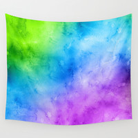 Dark Waters (Cool Water Colors) Wall Tapestry by Indulge My Heart