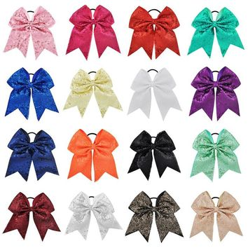 18 Color Sequins Ribbon Bows