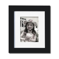 Decorative Black Wood Picture Photo Frame with Mat