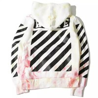 Off White Unisex Hoodies  Stripes Sweater [10262480979]