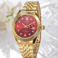 Rolex classic men's and women's casual business luxury steel band watch