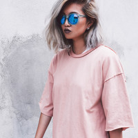 Party Distressed Tee | Peach