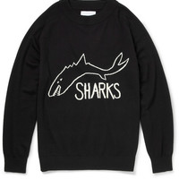 Sibling - The Sharks Intarsia Wool Sweater   MR PORTER