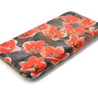 iphone 6 case floral iphone 6 plus case poppy iphone 5S case peony galaxy s6 edge iphone 4S case galaxy S5 floral LG G3 G4 Sony Xperia Z3
