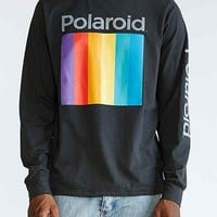 Altru Ombre Polaroid Logo Long-Sleeve Tee- Black
