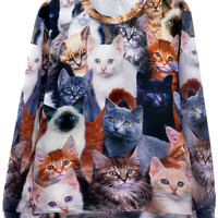 Kitten Pattern Sweatshirt