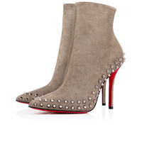 Christian Louboutin CL Trending Women's men Leather Side Zip Lace-up Ankle Boots Shoes High Boots