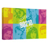 Beverly Hills 90210 - Color Blocks Canvas Wall Art With Back Board