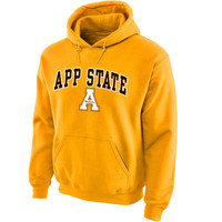 Appalachian State Mountaineers Midsize Arch Pullover Hoodie - Gold