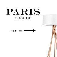Paris France Wall Decal, Typography Wall Stickers, Typography Decal, France Sticker, Bedroom Wall Decal, Livingroom Decal, Office Sticker
