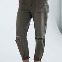 Bullhead Denim Co. Ripped Utility Skinny Boyfriend Jeans at PacSun.com