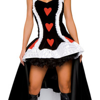 Deluxe Enchanting Queen of Hearts Adult Costume