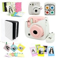 CAIUL Accessory Bundle for Fujifilm Instax Mini 8 Instant Camera (White) (7 Items)