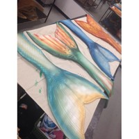 Real Custom Mermaid Tail - Silicone Colors