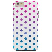Pink and Blue Ombre Polka Dots