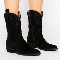 Selected Femme Alicia Suede Boot at asos.com
